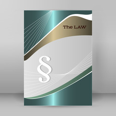 brochure cover page legal report luster metal arrow