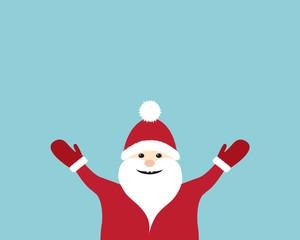 Funny Santa Claus with copyspace. Vector.