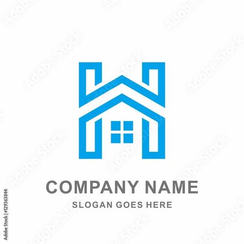 Geometric monogram letter h house architecture interior for Monogram homes floor plans