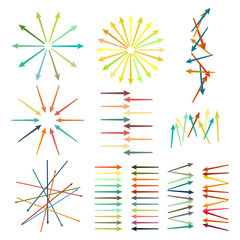 set of multicolored directional arrows harmony mess