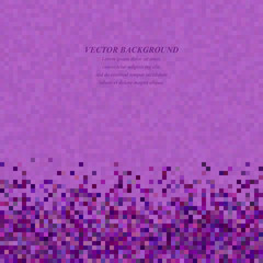Purple abstract pixel square mosaic background