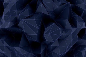 3d rendering of Polygonal abstract  Futuristic Background