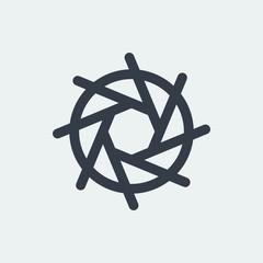 photo icon, lens, photography logo, studio logo
