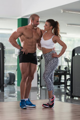 Young Sporty Fit Caucasian Couple Posing