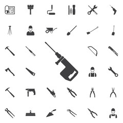 Drill icon. Construction icons universal set for web and mobile