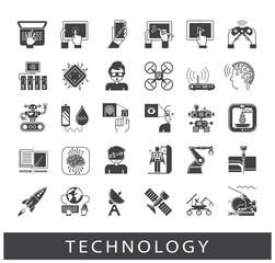 Set of technology icons. Various high tech icons.