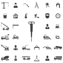 jackhammer icon. Construction icons universal set for web and mobile