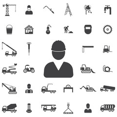 Worker Icon. Construction icons universal set for web and mobile