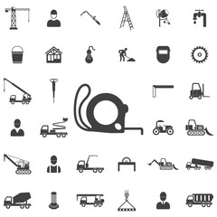 Construction ruler icon. Construction icons universal set for web and mobile