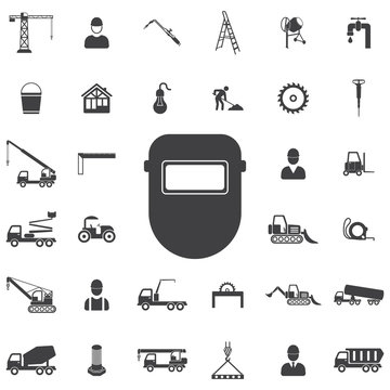 Protective welding goggles icon. Construction icons universal set for web and mobile