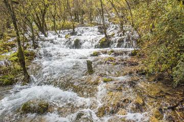 Waterfall in jiuzaigou, Sichuan of China