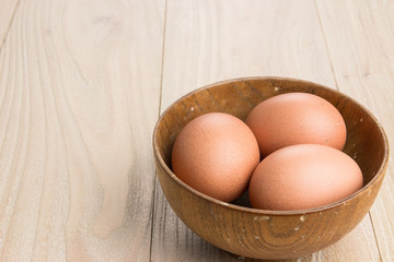 Eggs in the bowl