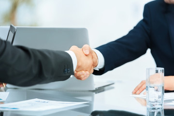 concept of the reliability of your partners.handshake