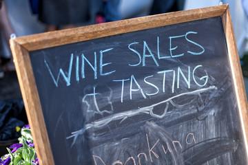 Wine Sign blackboard