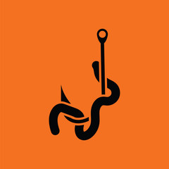 Icon of worm on hook