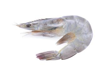 Raw Prawns, Raw tiger shrimps isolated on white background