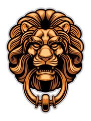 decoration of Lion door knocker