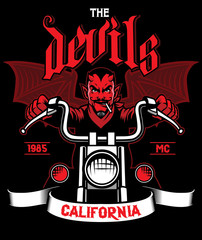 devil rides the motorcycle