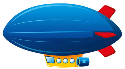 Hot air balloon in blue color