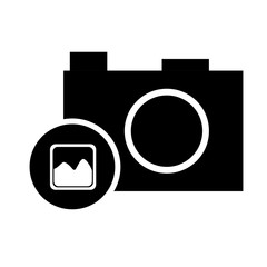 pictogram photo camera picture image vector illustration eps 10