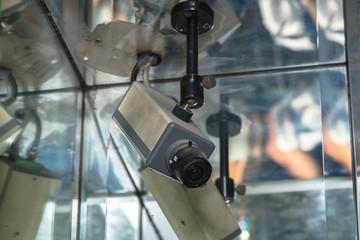 CCTV in building in  elevator