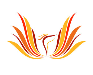 Abstract Flame Phoenix Wings