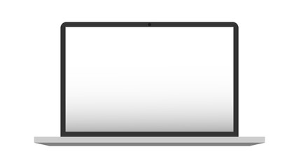 Laptop on white background - vector illustration