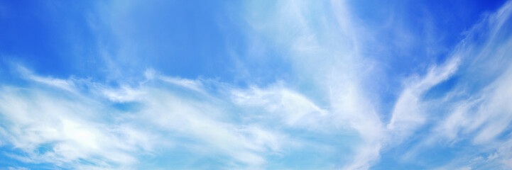 panorama of beautiful white cloud on blue sky