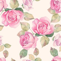 Floral branch. Watercolor seamless pattern 12