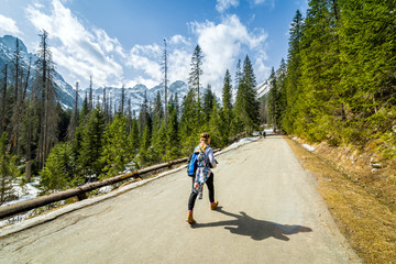 Fototapeta Zakopane, droga na Morskie Oko, góry Tatry obraz