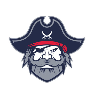 Pirate head mascot