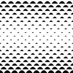 Black white curved shape pattern background
