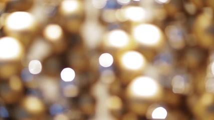 Fotobehang - golden christmas decoration or garland of beads