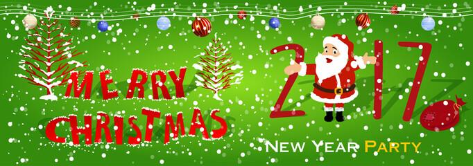 Merry christmas happy new year 2017