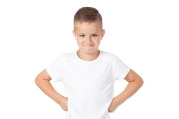 child- portret- boy in a white shirt