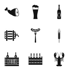 Alcohol icons set. Simple illustration of 9 alcohol vector icons for web