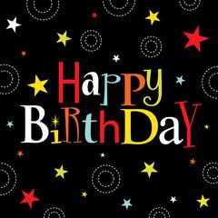 sparkling birthday card design
