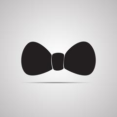 Векторная иллюстрация иконка простой символ плоский для веб bow праздничный бант бантик галстук бабочка