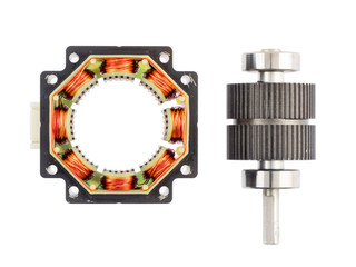 Stepper motor, disassembled