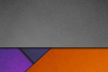 Material design wallpaper. Real paper texture. Purple, orange and gray