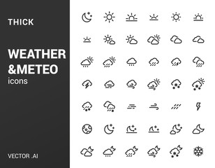 Pack of thick Weather icons.