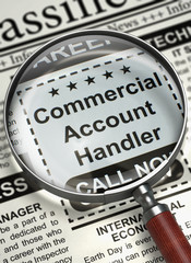 We're Hiring Commercial Account Handler. 3D.