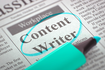 We are Hiring Content Writer. 3D.