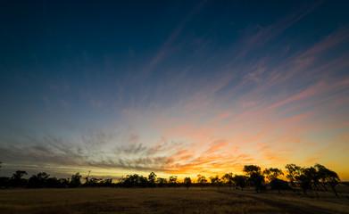 The beautiful sunset in the Hyden, Western Australia