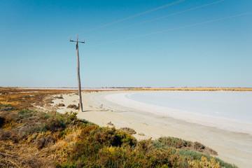 Salt Lake on mallee hill road side , Westen Australia .