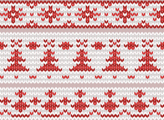 Set of seamless knitted borders. Folk patterns. Vector elements for your creativity