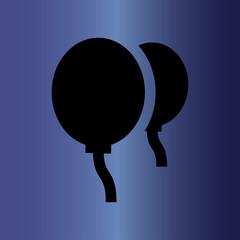 balloons icon. flat design