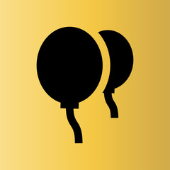 balloons icon. flat design
