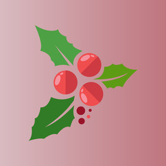 holly icon. flat design