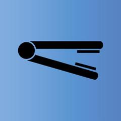 hair iron icon. flat design